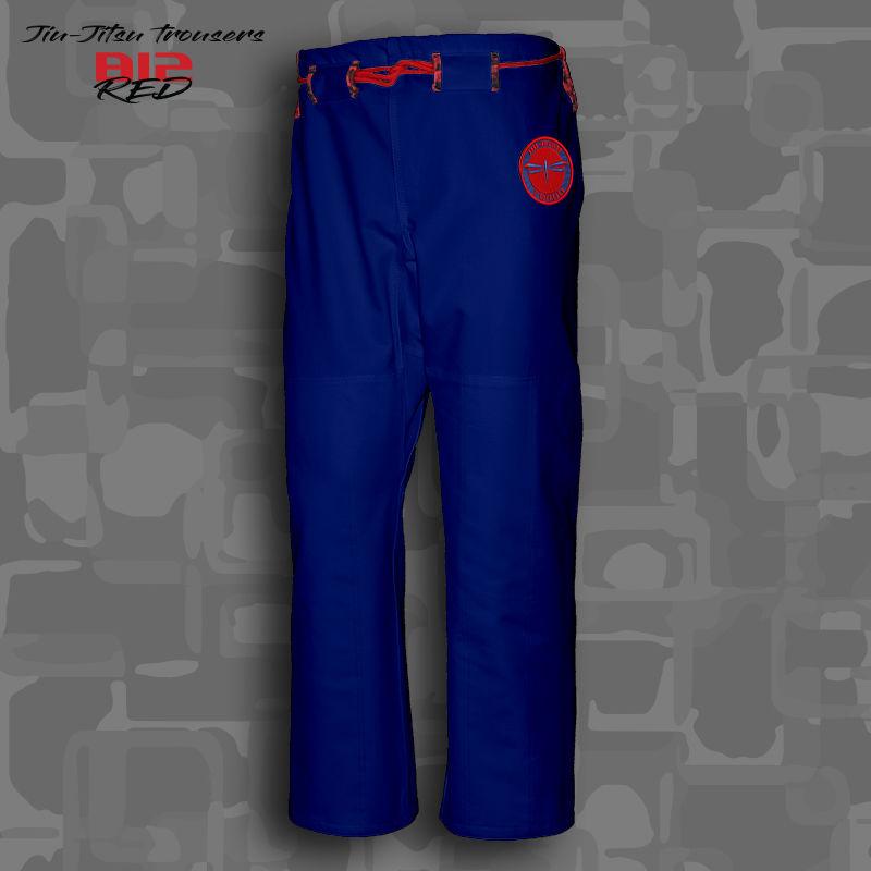 spodnie BJJ / Jiu-jitsu B12-RED 12oz, niebieskie (27 rozmiarów)