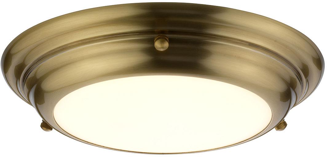 Welland plafon LED mosiądz IP54 WELLAND-F-S-AB - Elstead Lighting Do -17% rabatu w koszyku i darmowa dostawa od 299zł !
