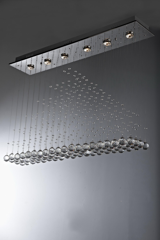 Żyrandol kryształowy 100x20x70cm 6xGU10 K300