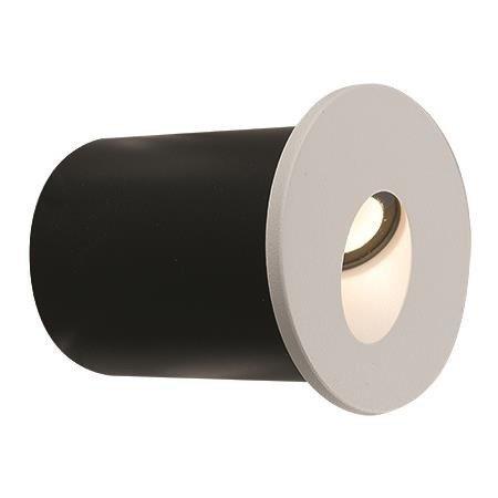 Oprawa podtynkowa zewnętrzna kinkiet OIA LED biały śr. 4,8cm
