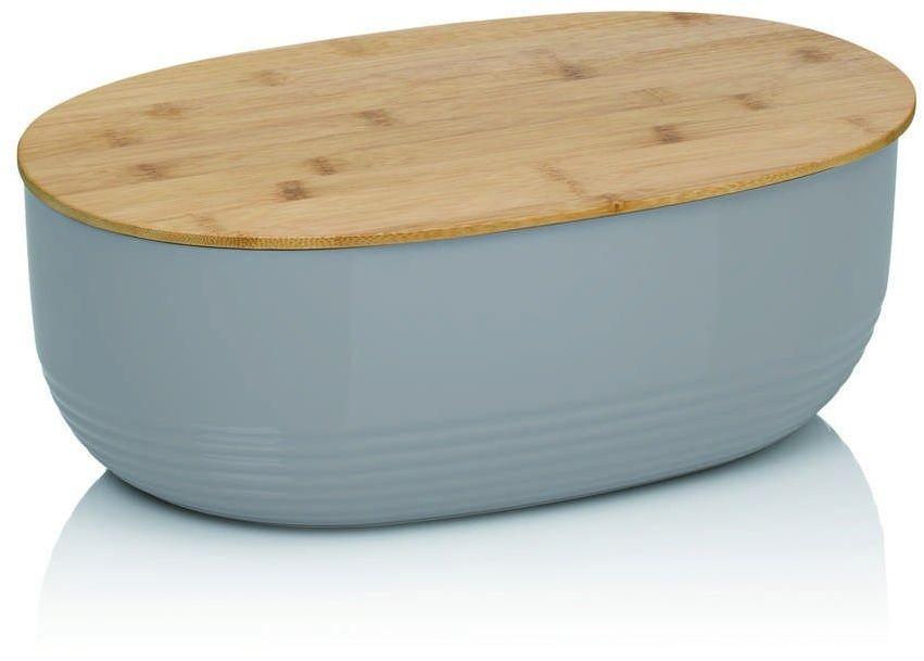 Kela - namur - owalny pojemnik na chleb, 37,50 cm, szary