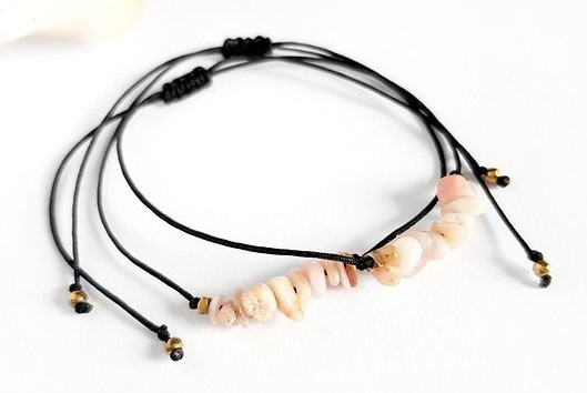 Brasoletka handmade z opalem
