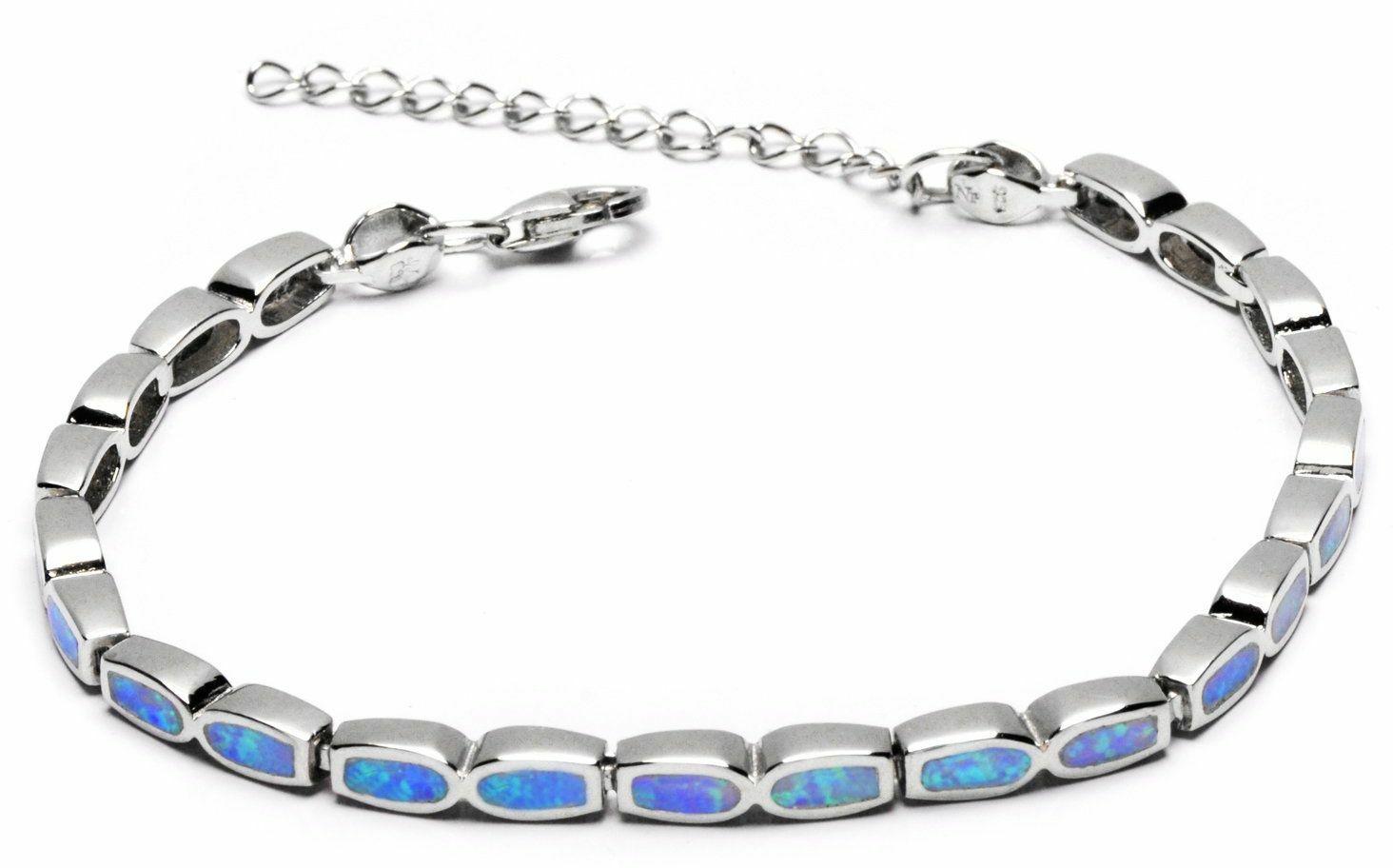 bransoletka opal niebieski