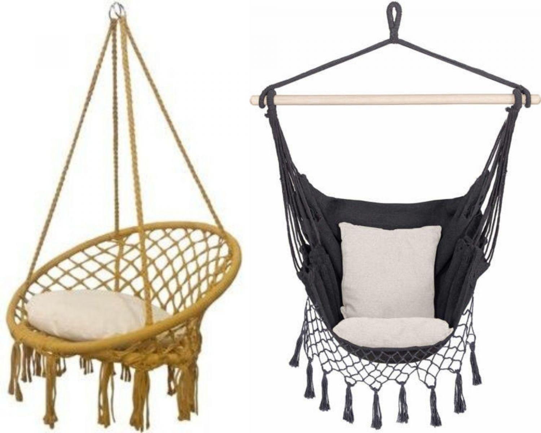 Fotele wiszące: bocianie i brazylijskie