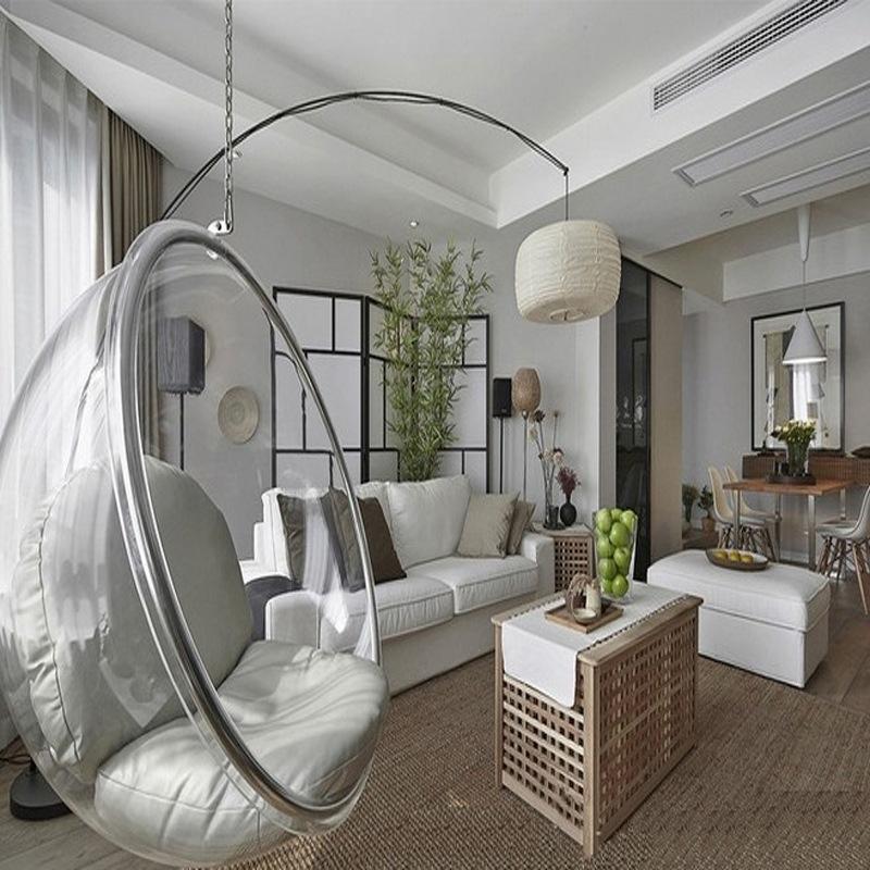 Fotel wiszący transparentny