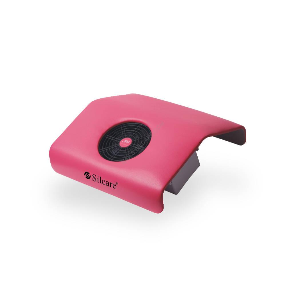 Różowy pochłaniacz pyłu pozwoli zachować porządek podczas wykonania manicure