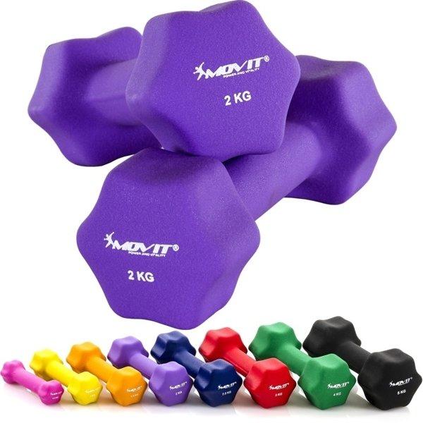 Kolorowe hantelki do ćwiczeń