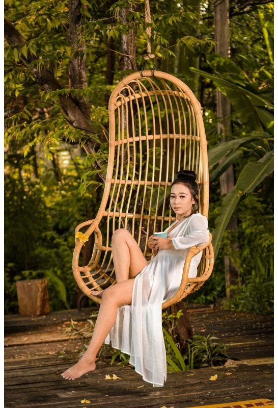 Huśtawka fotel z rattanu