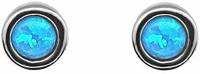 kolczyki srebrne z opalem naturalnym