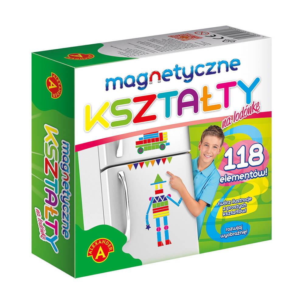 Magnetyczne i kolorowe kształty do zabawy