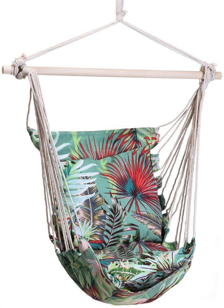Krzesło brazylijskie z tropikalnym wzorem