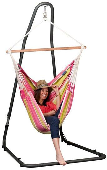 Krzesło hamakowe z metalowym stojakiem