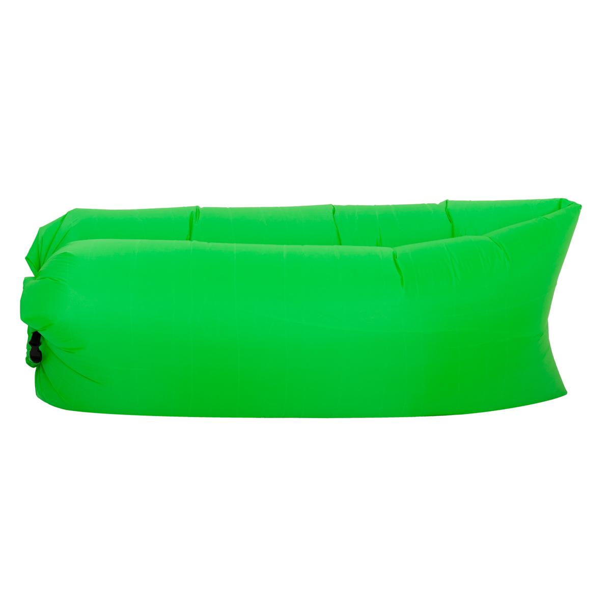 lazy bag zielony z boku