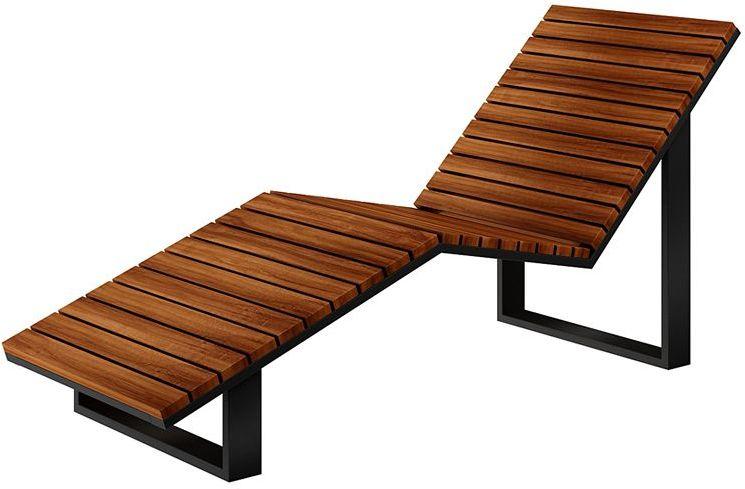 Leżak leżanka drewniana