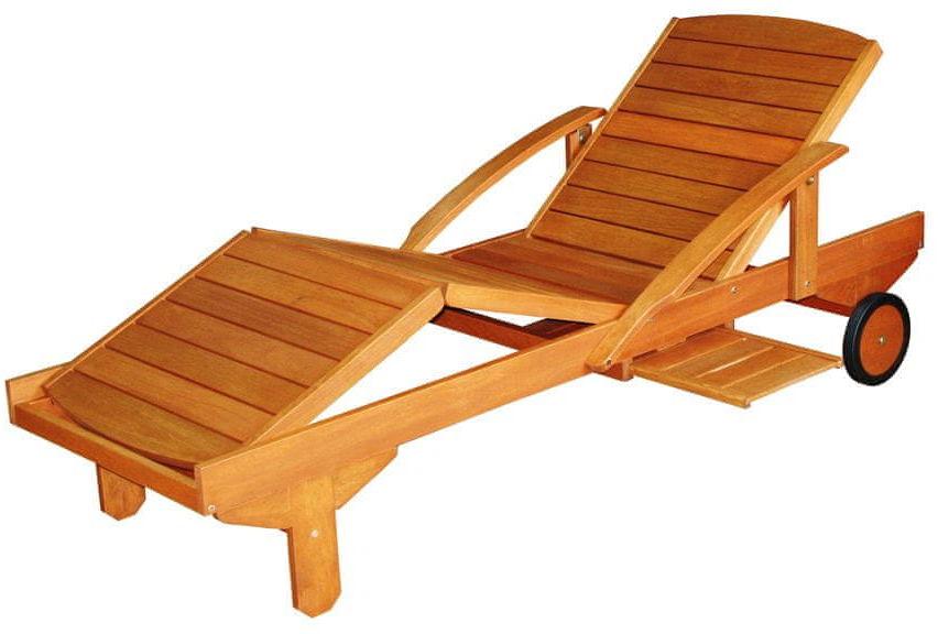 Leżak drewniany regulowany