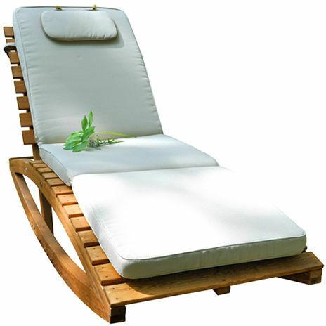 lezak drewniany spa