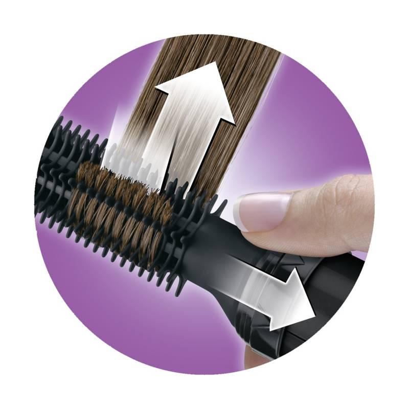 zakręcanie włosów na lokówko suszarce obrotowej