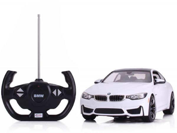 Samochód zdalnie sterowany BMW ze sterownikiem w kształcie kierownicy samochodowej
