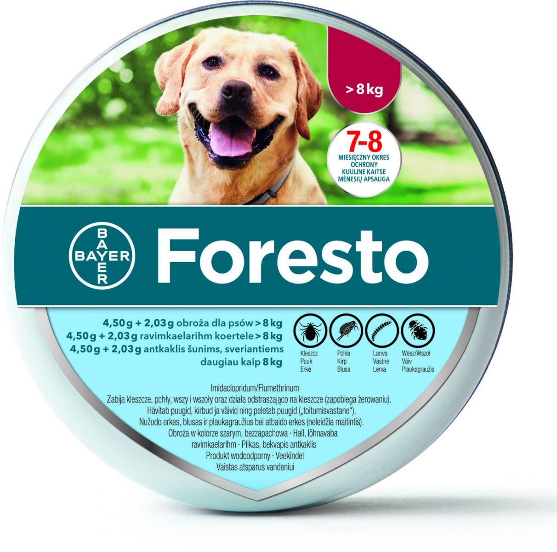 Obroża Foresto w metalowej puszce