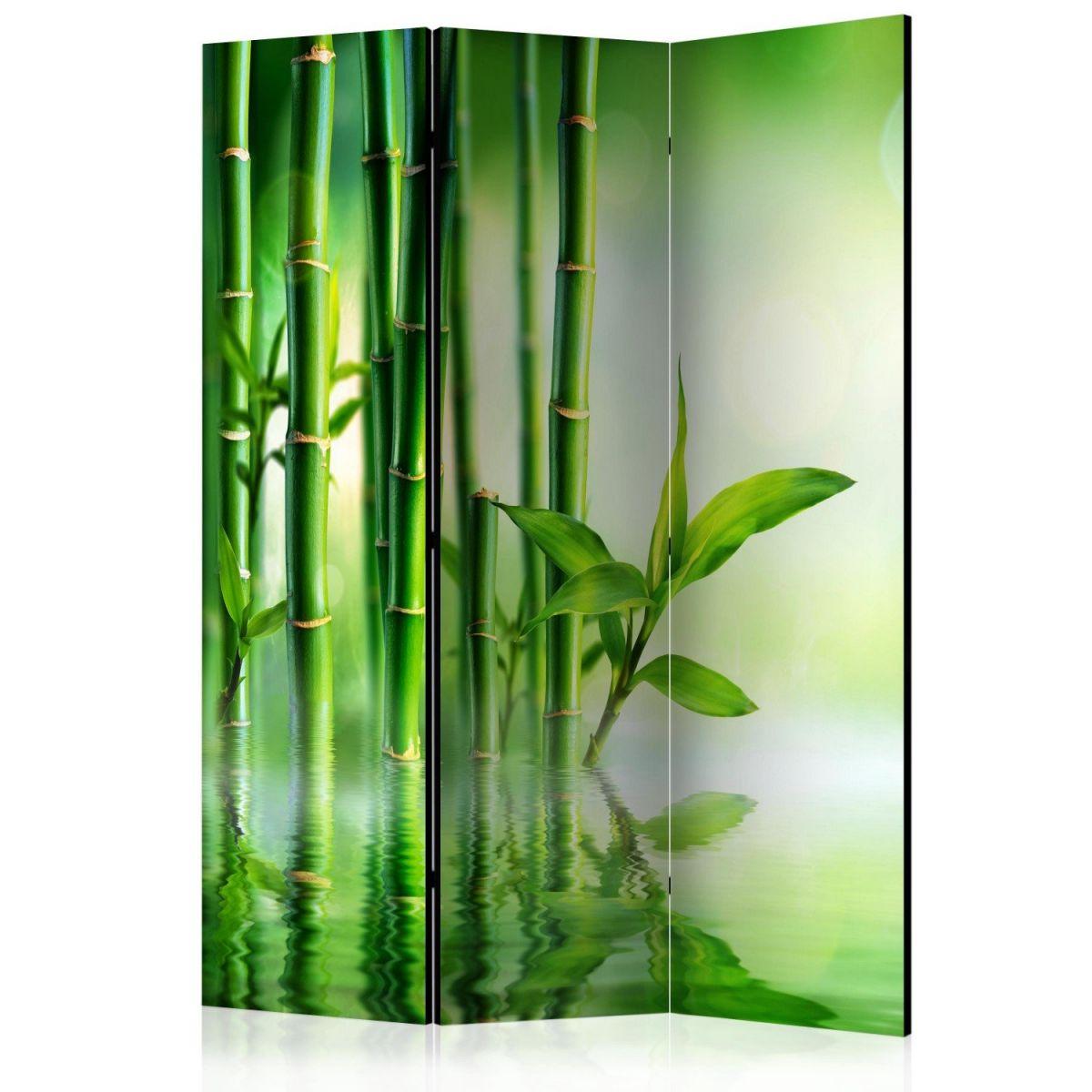 Parawan trzy częściowy z motywem lasu bambusowego