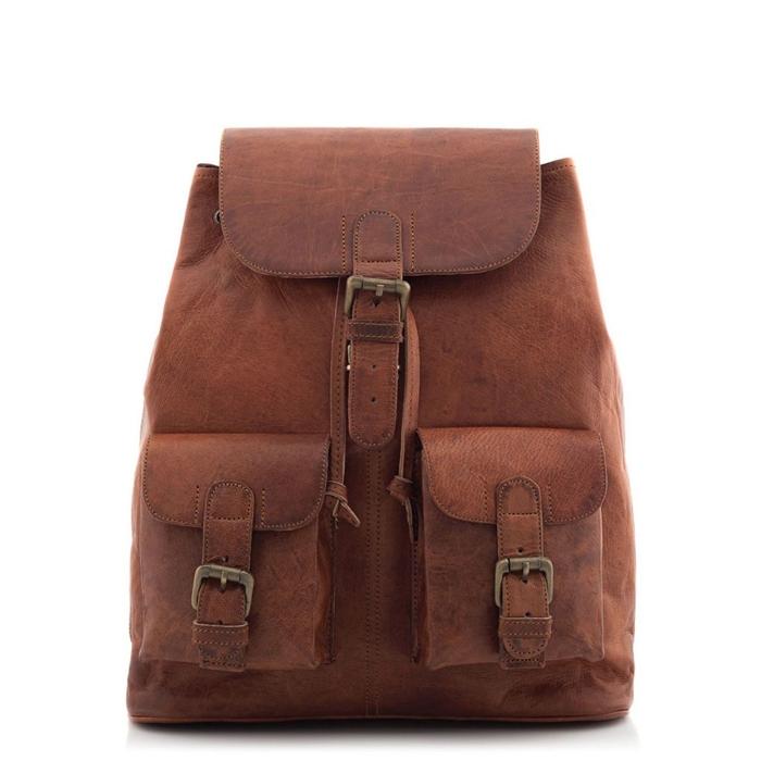 Plecak skórzany z kieszonkami