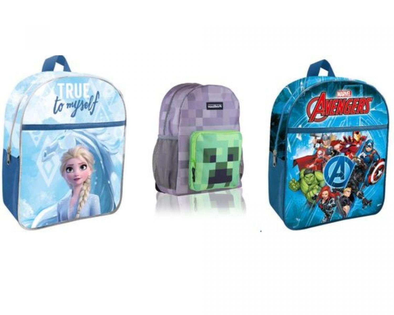 Plecaki z motywami z bajek i gier komputerowych