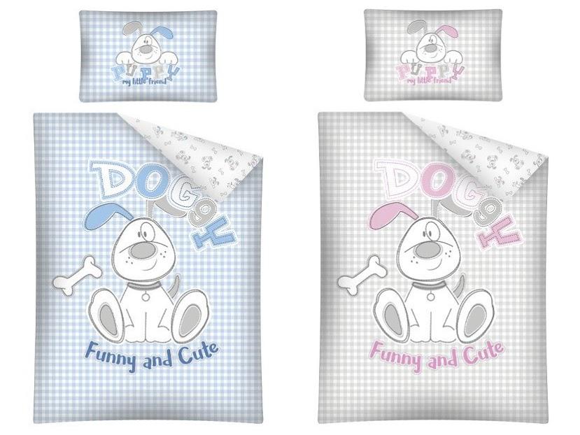 Pościel dla niemowląt z motywem pieska dla chłopca i dziewczynki