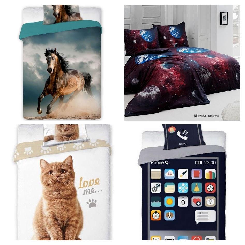 młodzieżowa pościel typu kotek, telefon,koń