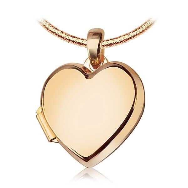 Serce sekretnik złoty wisiorek