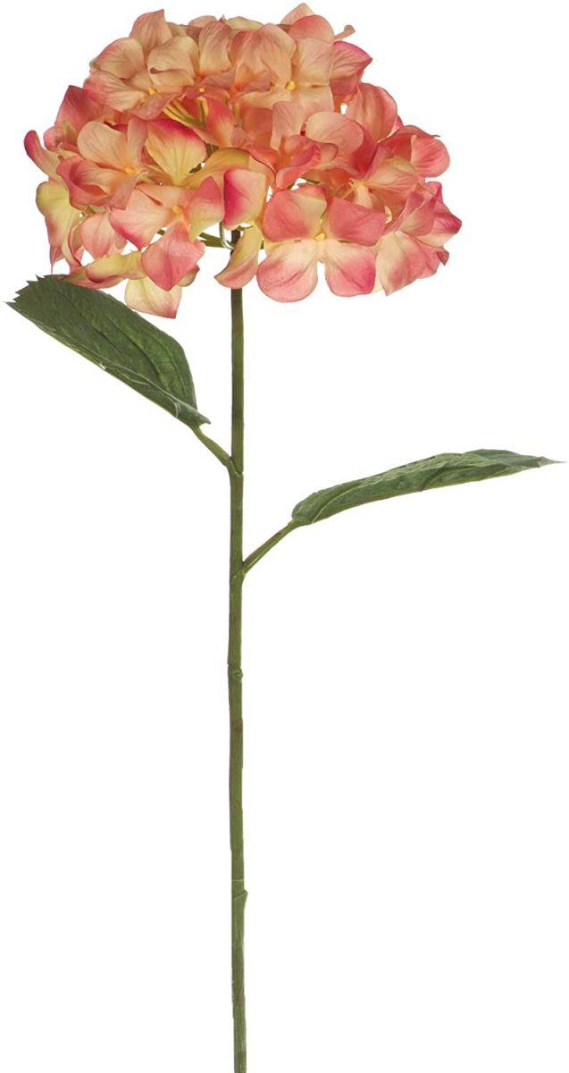 Pojedyncza gałązka sztucznej hortensji
