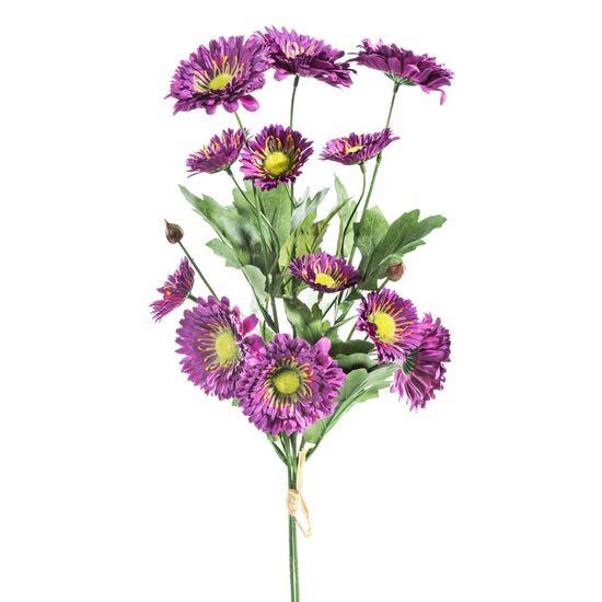 Sztuczne astry koloru fioletowego świetnie będą się prezentować w wysokim wazonie