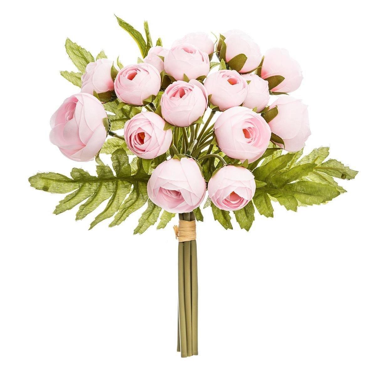 Bukiet 18 różowych piwonii sprawdzi się nie tylko w domu, ale również w biurze czy sklepie
