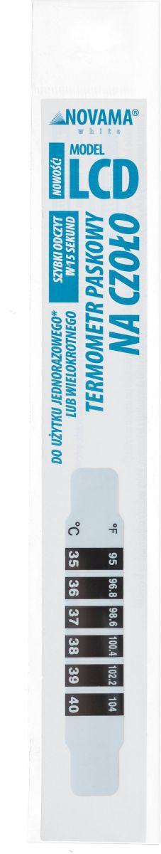 Termometr paskowy na czoło, wielokrotnego lub jednorazowego użytku