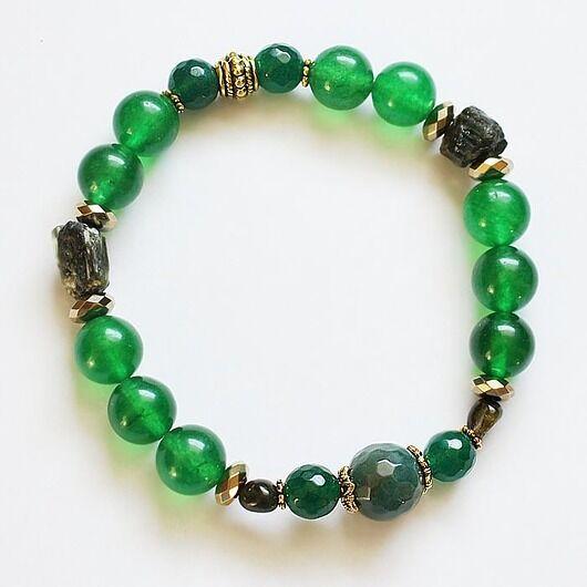 Bransoletka z zielonym turmalinem