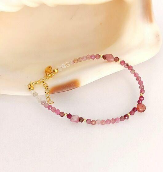 bransoletka rozowy turmalin
