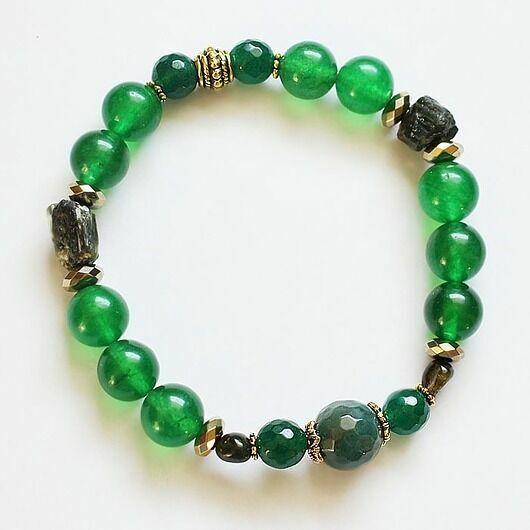 bransoletka zielony turmalin