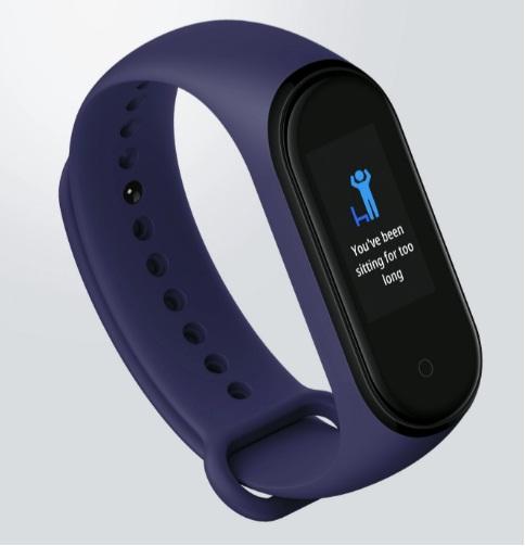 Xiaomi Mi Band 4 alerty bezczynności