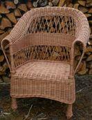Fotel ogrodowy pleciony