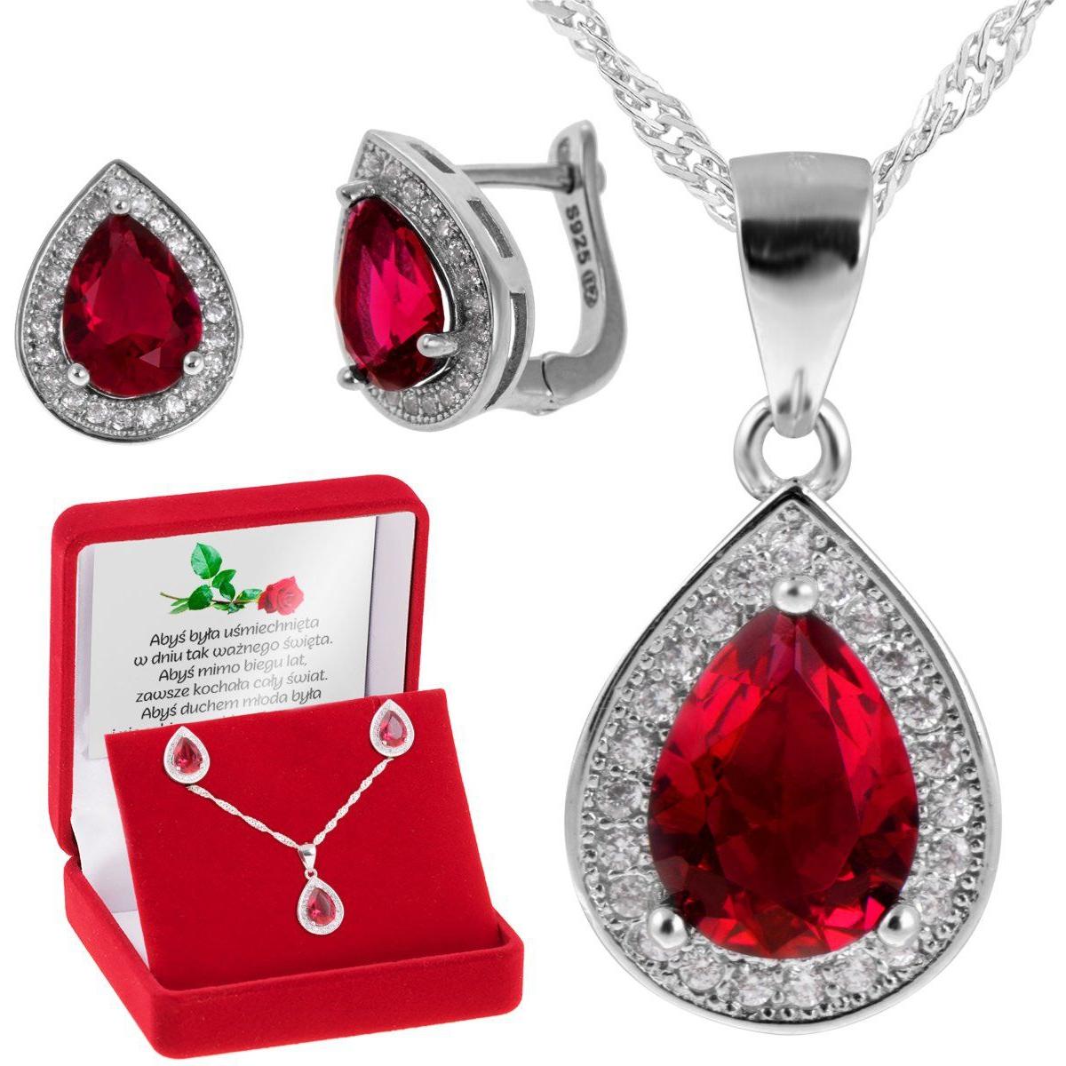 Biżuteria z rubinem