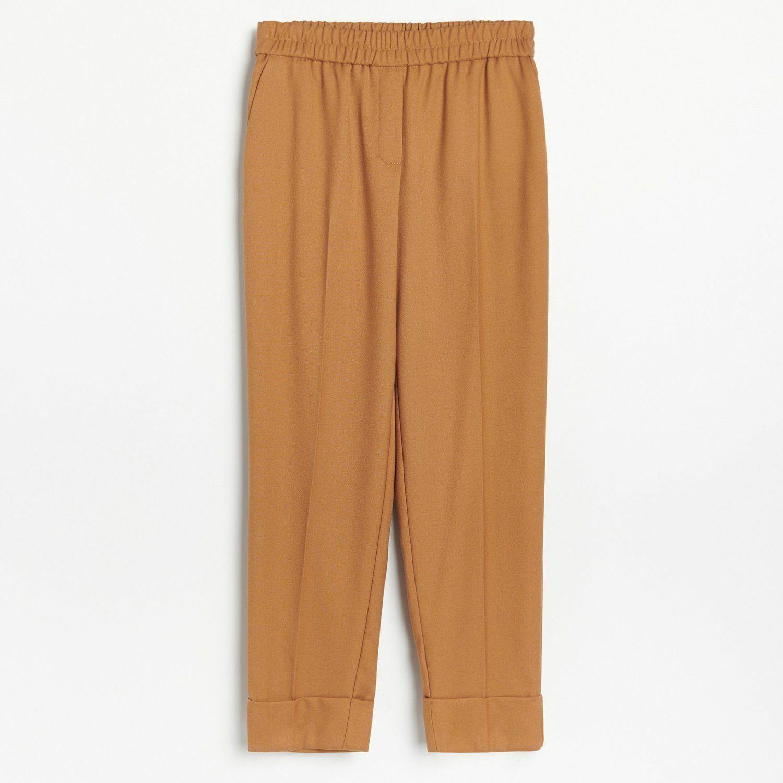 Brązowe spodnie garniturowe
