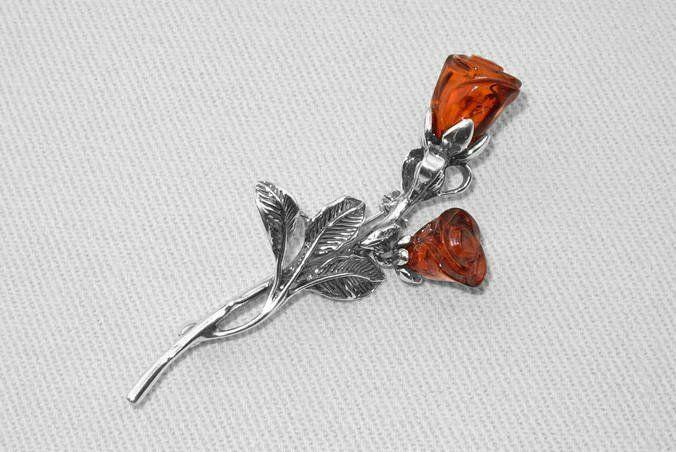 Broszka róża