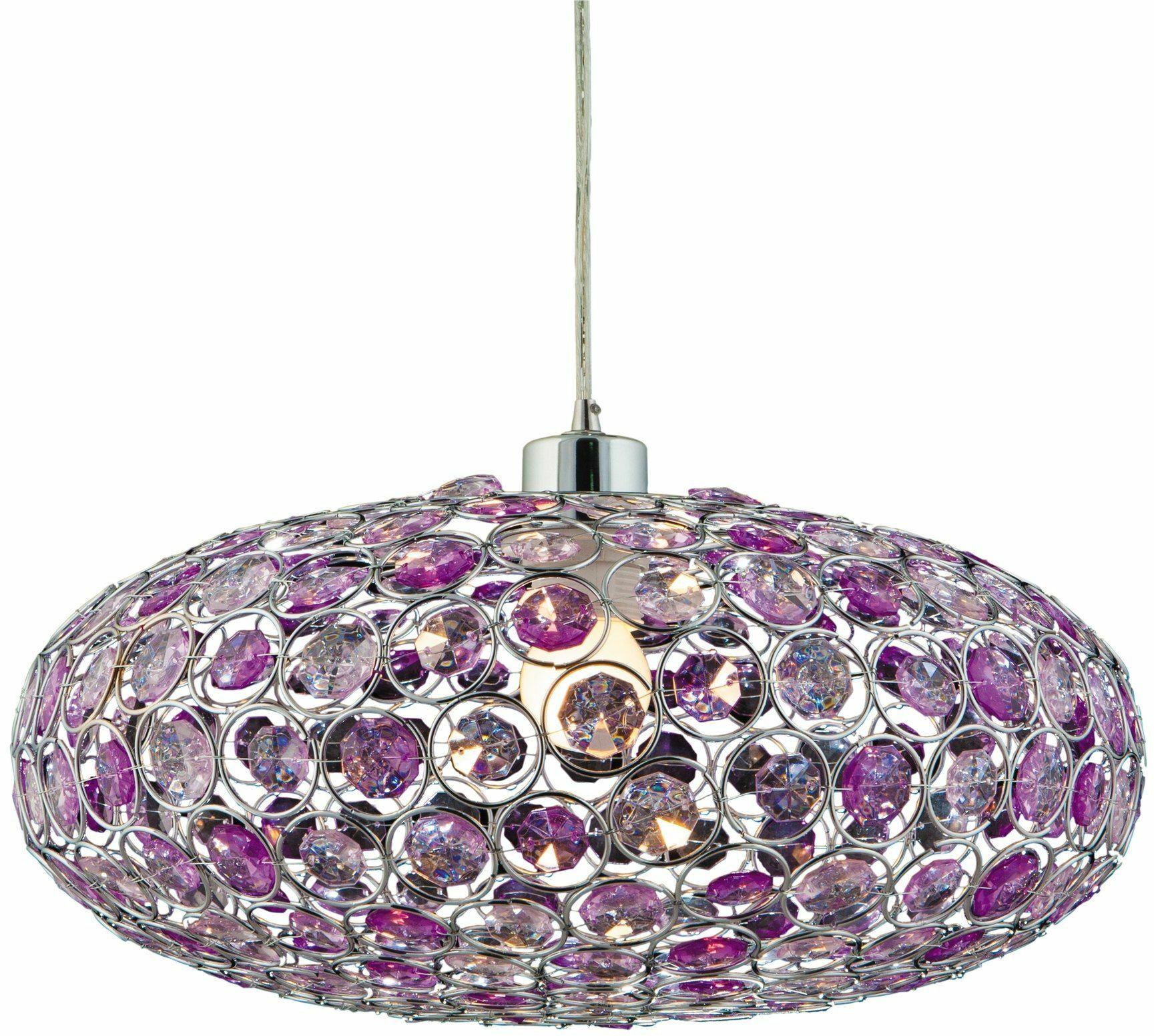 Lampa sufitowa fioletowa