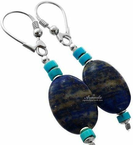 Lapis lazuli kolczyki