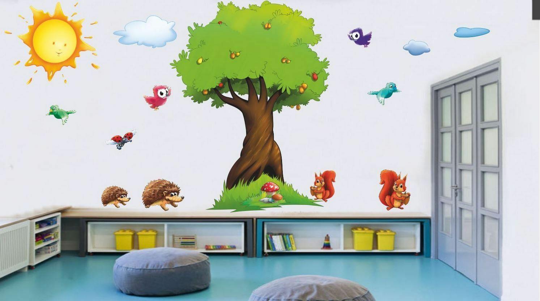 Naklejki na ścianę drzewo