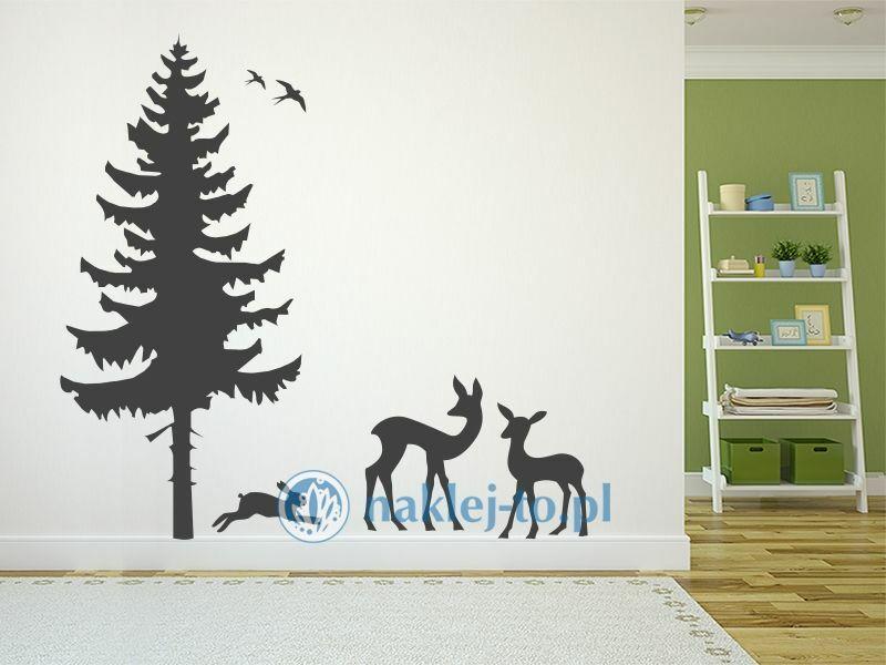 Naklejki na ścianę zwierzęta leśne