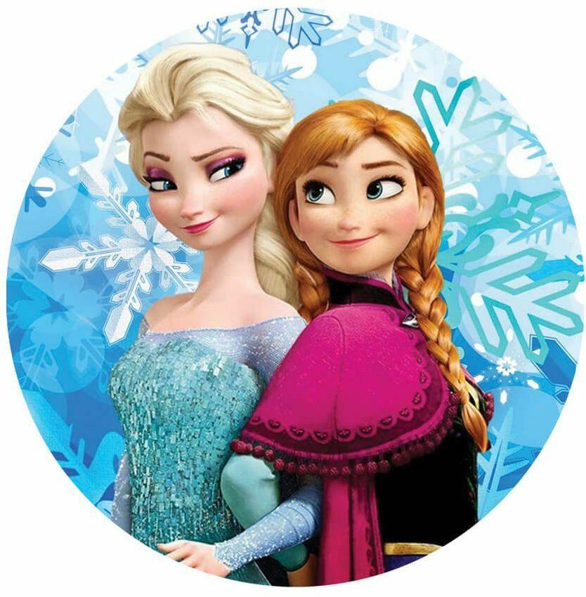 Opłatek na tort Elsa