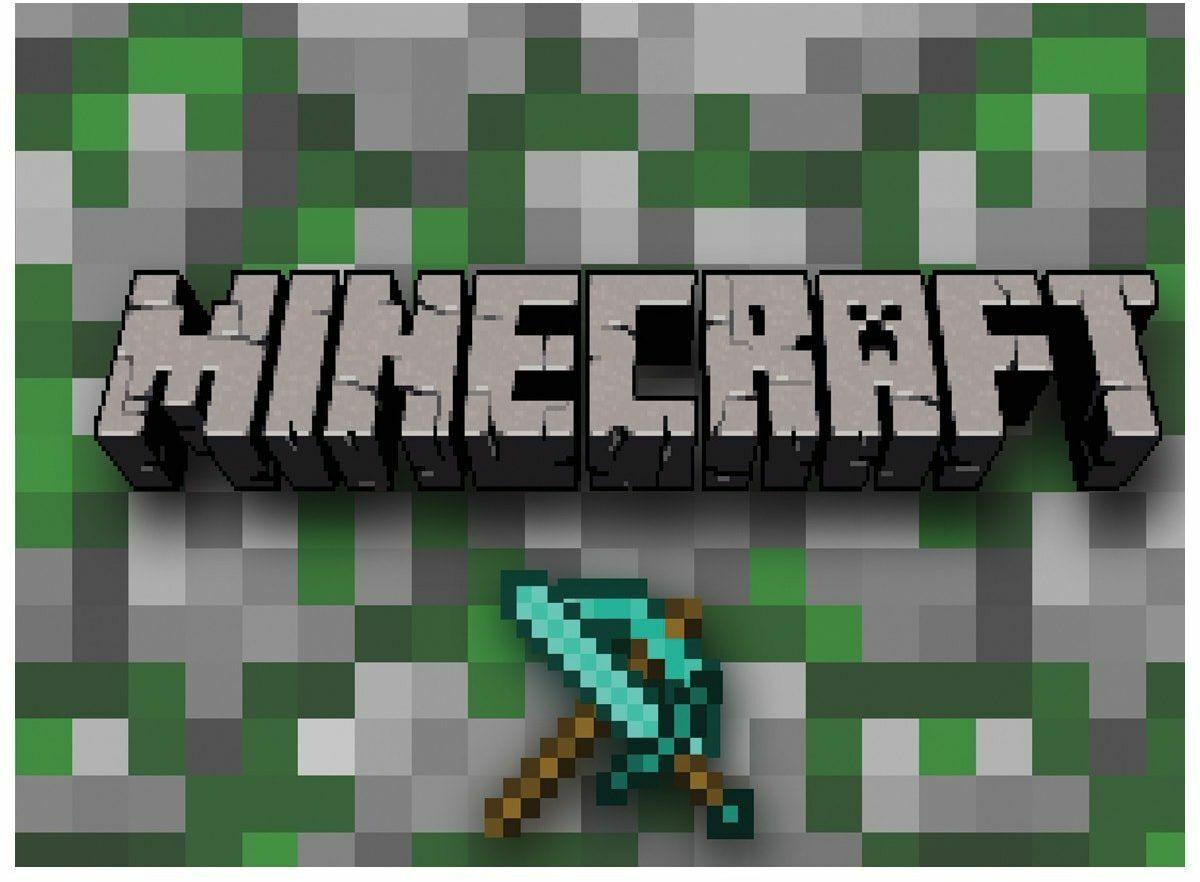 Opłatek na tort Minecraft