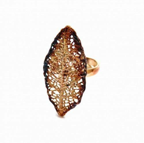 Pierścionek liść