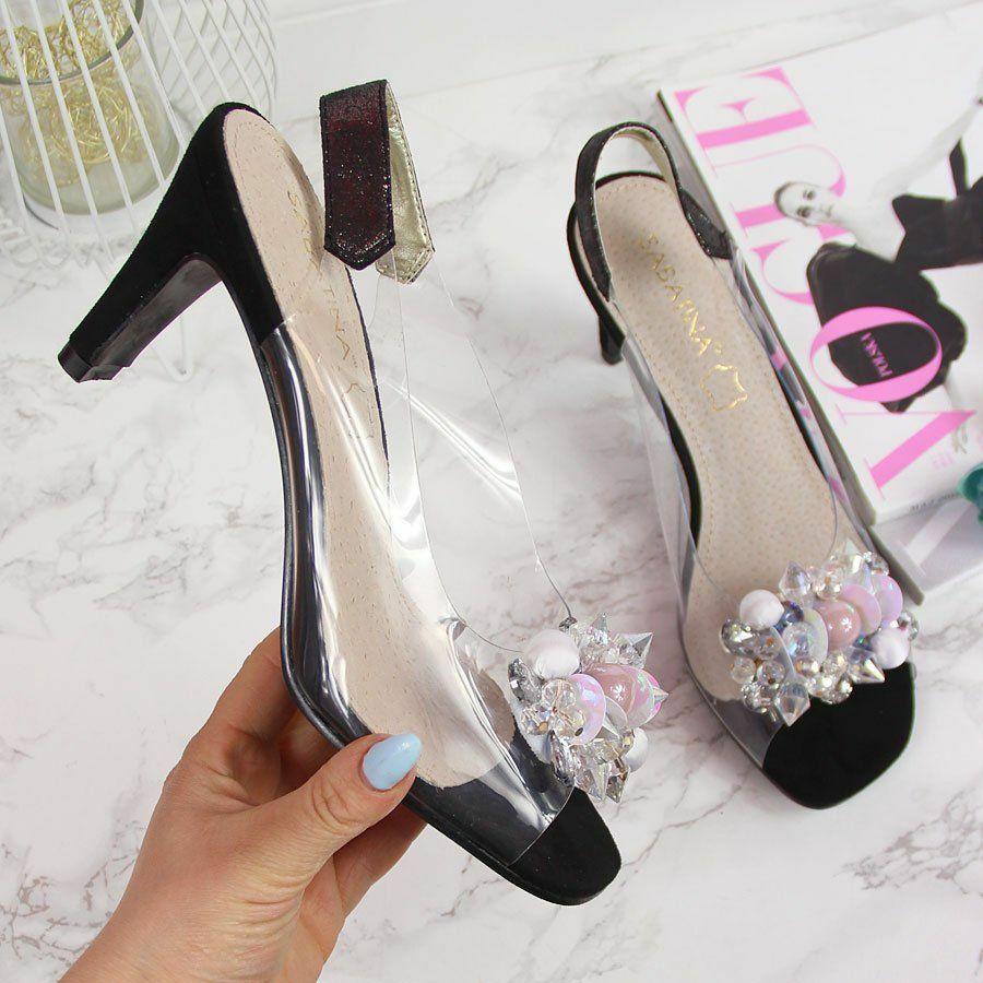 Sandały transparentne