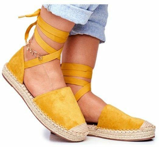 Sandały ze wstążką